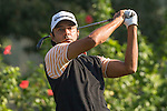 Jyoti Randhawa of India tees off the 7th hole during the 58th UBS Hong Kong Golf Open as part of the European Tour on 09 December 2016, at the Hong Kong Golf Club, Fanling, Hong Kong, China. Photo by Vivek Prakash / Power Sport Images