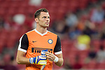 FC Internazionale Goalkeeper Daniele Padelli Warming up during the International Champions Cup match between FC Bayern and FC Internazionale at National Stadium on July 27, 2017 in Singapore. Photo by Weixiang Lim / Power Sport Images