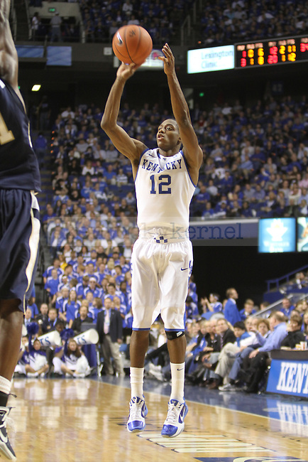 Brandon Knight took a shot during the game against East Tennessee State University at Rupp Arena on Friday, November 12, 2010. Photo by Latara Appleby | Staff
