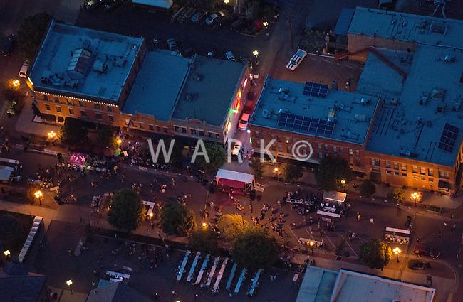 Aerial of B Street Bash street party. June 2014. 85144