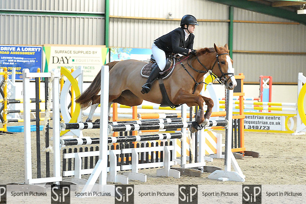 Class 2. 95cm Open. Area 40 Seniors Christmas showjumping. Brook Farm Training Centre. Essex. 11/12/2016. MANDATORY Credit Melody Fisher/Sportinpictures - NO UNAUTHORISED USE - 07837 394578