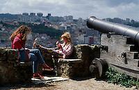 Blick vom Castelo Sao Jorge in Lissabon, Portugal