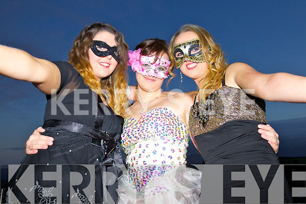 Shauna Roche, Klaudia Malec and Shannon Power, enjoying the IT Tralee college ball, in Ballyroe Heights Hotel, Tralee, on Wednesday March 26th