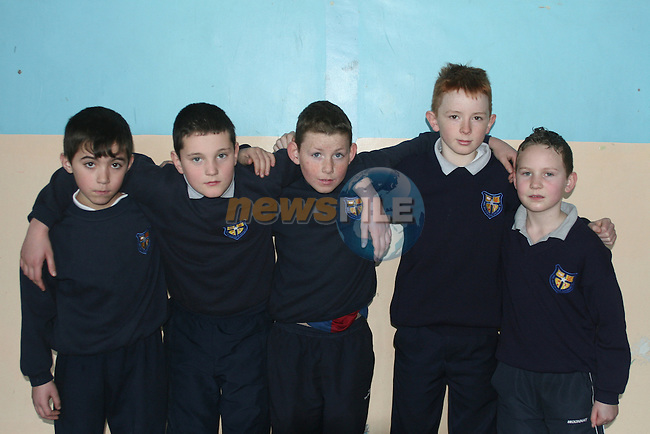 Dean Purcell,Neil Reilly, Martin Duffy, Pearce Callan, Niall McCarron, students from the Monastery National School, Ardee, practising their part for the Path To Peace Concert in the Waterfront Hall, Belfast at 8pm on Friday 16th February..Photo NEWSFILE/Jenny Matthews.(Photo credit should read Jenny Matthews/NEWSFILE)....This Picture has been sent you under the condtions enclosed by:.Newsfile Ltd..The Studio,.Millmount Abbey,.Drogheda,.Co Meath..Ireland..Tel: +353(0)41-9871240.Fax: +353(0)41-9871260.GSM: +353(0)86-2500958.email: pictures@newsfile.ie.www.newsfile.ie.FTP: 193.120.102.198.