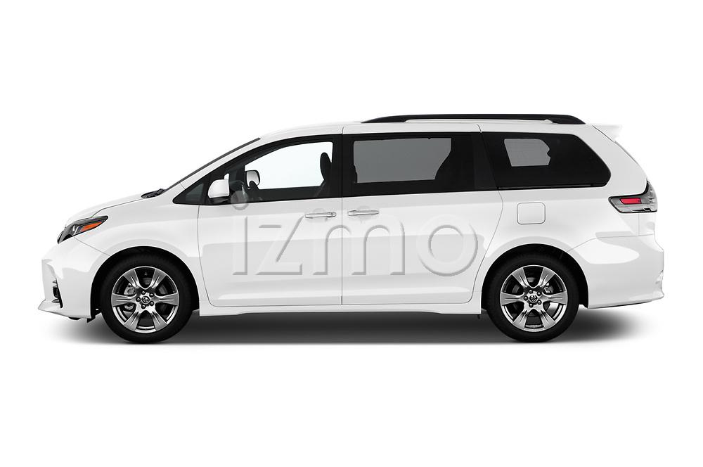 Car driver side profile view of a 2020 Toyota Sienna SE 5 Door Mini Van