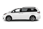 Car driver side profile view of a 2020 Toyota Sienna SE 5 Door Mini Van