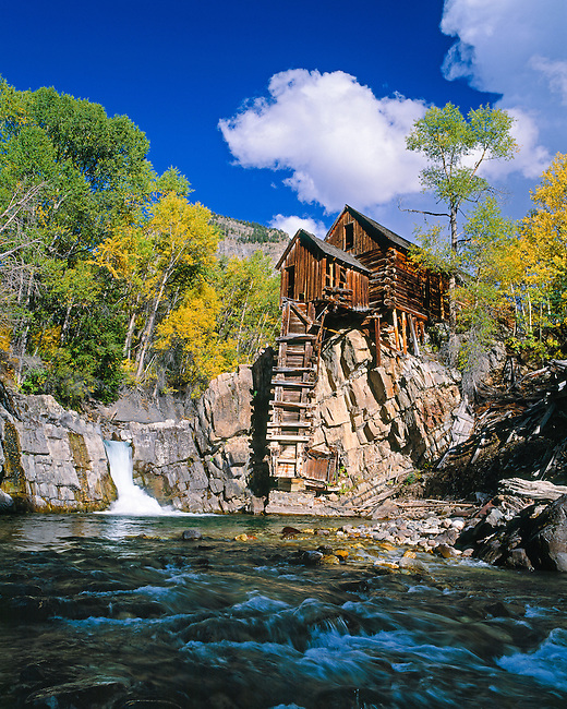 The historic Crystal Mill along the South Fork of the Crystal River, near Marble, CO, USA