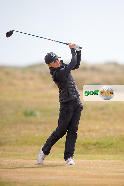 Sophie Lamb (ENG) on the 3rd tee during the 3rd round of the ​Irish Women's Open Stroke Play Championship, Co Louth Golf Club, Baltray, Co Louth, Ireland. 13/05/2017.<br /> Picture: Golffile | Fran Caffrey<br /> <br /> <br /> All photo usage must carry mandatory copyright credit (&copy; Golffile | Fran Caffrey)