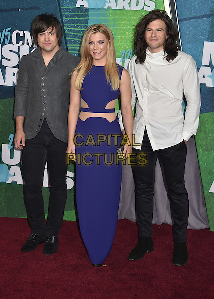 10 June 2015 - Nashville, Tennessee - The Band Perry, Reid Perry, Kimberly Perry, Neil Perry. 2015 CMT Music Awards held at Bridgestone Arena. <br /> CAP/ADM/LF<br /> &copy;Laura Farr/AdMedia/Capital Pictures