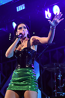 PHILADELPHIA, PA - DECEMBER 5: Dua Lipa at Q102's iHeartRadio Jingle Ball at Wells Fargo Center in Philadelphia, Pennsylvania on December 5, 2018. Credit: John Palmer/MediaPunch