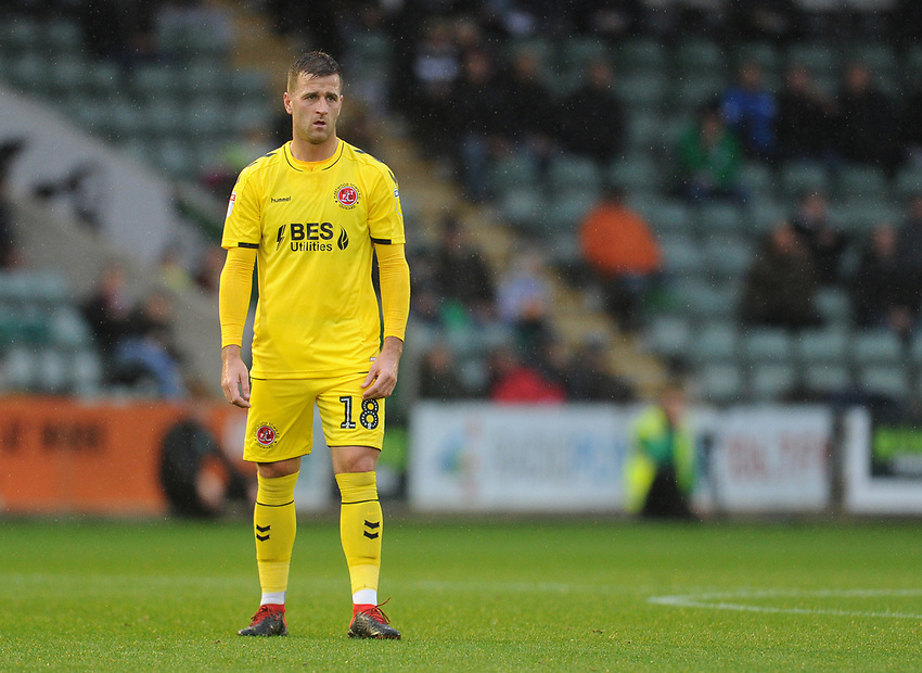 Fleetwood Town's Ryan Taylor<br /> <br /> Photographer Kevin Barnes/CameraSport<br /> <br /> The EFL Sky Bet League One - Plymouth Argyle v Fleetwood Town - Saturday 24th November 2018 - Home Park - Plymouth<br /> <br /> World Copyright © 2018 CameraSport. All rights reserved. 43 Linden Ave. Countesthorpe. Leicester. England. LE8 5PG - Tel: +44 (0) 116 277 4147 - admin@camerasport.com - www.camerasport.com