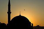 The Suleymaniye Mosque at dusk, Isntanbul, Turkey