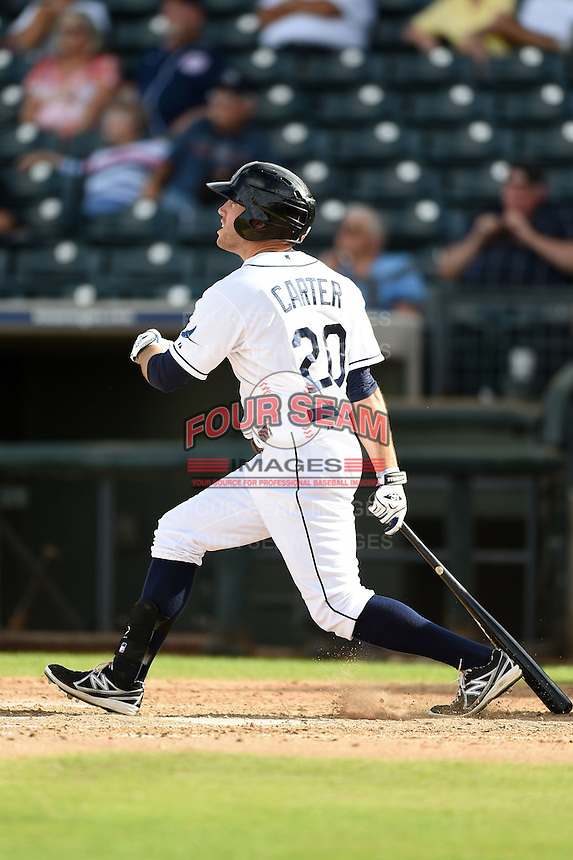 Peoria Javelinas outfielder Kes Carter (20) during an Arizona Fall League game against the Scottsdale Scorpions on October 18, 2014 at Surprise Stadium in Surprise, Arizona.  Peoria defeated Scottsdale 4-3.  (Mike Janes/Four Seam Images)