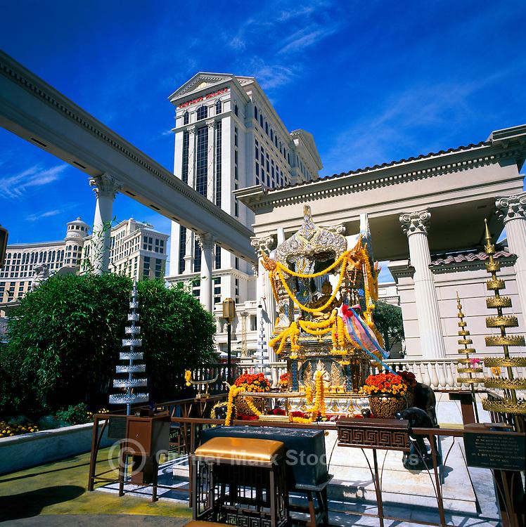 Las Vegas, Nevada, USA - Four-Faced Brahma Shrine at Caesars Palace along The Strip (Las Vegas Boulevard)