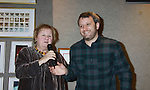 """Lin Oliver is one of the authors of a new series Ghost Buddy """"Zero to Hero"""" and is joined by her son Theo Baker who both joined together on Sound Bender on January 25, 2012 at Books of Wonder, New York City, New York. (Photo by Sue Coflin/Max Photos)"""