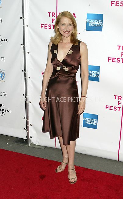 WWW.ACEPIXS.COM . . . . .  ....NEW YORK, APRIL 18 ,2005....Patricia Clarkson at the premiere of 'The Interpreter' which starts the Tribeca Film Festival.....Please byline: Ian Wingfield - ACE PICTURES..... *** ***..Ace Pictures, Inc:  ..Craig Ashby (212) 243-8787..e-mail: picturedesk@acepixs.com..web: http://www.acepixs.com