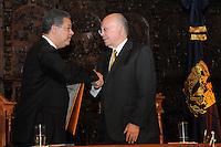 Acto de Inauguracion de la Catedra Juan Boch, en la Universidad Nacional Autonoma de Mexico UNAM, con la presencia de Leonel Fernandez, presidente de la Republica Dominicana