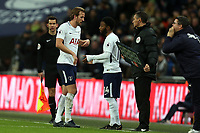 Harry Kane of Tottenham is replaced by Georges-Kevin Nkoudou of Tottenham during Tottenham Hotspur vs AFC Wimbledon, Emirates FA Cup Football at Wembley Stadium on 7th January 2018