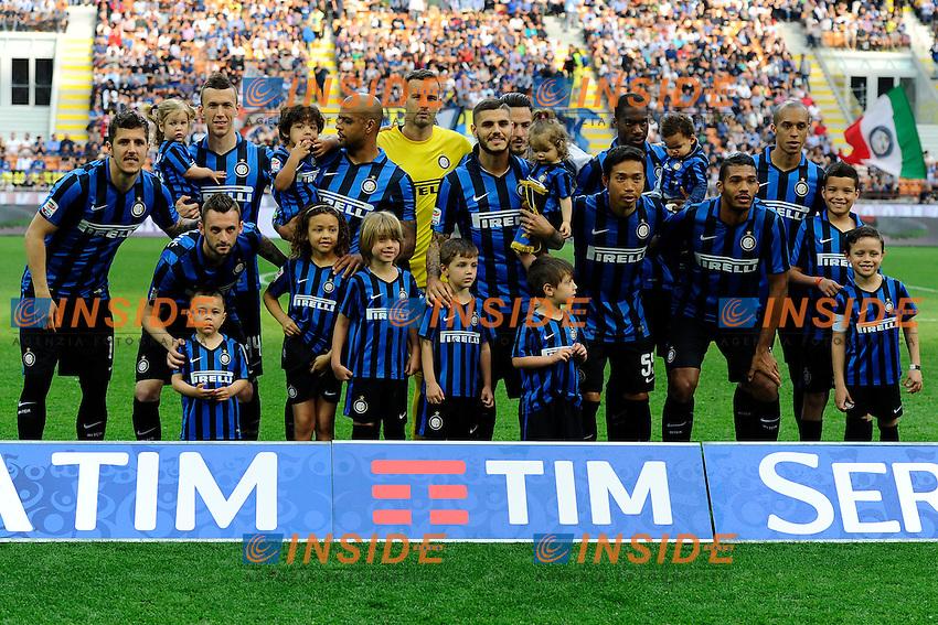 Formazione giocatori Inter con i figli<br /> Milano 7-05-2016 Stadio Giuseppe Meazza - Football Calcio Serie A Inter - Empoli. Foto Giuseppe Celeste / Insidefoto