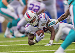14 September 2014: Buffalo Bills wide receiver Sammy Watkins receives a pass but is short of first down yardage during play against the Miami Dolphins at Ralph Wilson Stadium in Orchard Park, NY. The Bills defeated the Dolphins 29-10 to win their home opener and start the season with a 2-0 record. Mandatory Credit: Ed Wolfstein Photo *** RAW (NEF) Image File Available ***
