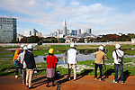 The Japan Sport Council invited journalists onto the proposed site for the new centerpiece national stadium for the Tokyo 2020 Olympic Games on November 16, 2015 in Tokyo, Japan. <br /> The demolition work on the old National Stadium was officially completed at the end of October. <br /> Japan however still has to agree on a plan for the new stadium after the initial plans based on a design by Zaha Hadid were abandoned due to spiraling costs. <br /> The delays mean that the rugby World Cup final in 2019 will now be hosted in Yokohama and Japan aims to have the new national stadium ready by January 2020.<br /> (Photo by Shingo Ito/AFLO SPORT)