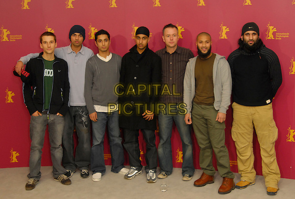 "MAT WHITECROSS, WAQUAR SIDDIQUI, RIZ AHMED, ARFAN USMAN, MICHAEL WINTERBOTTOM, RUHEL AHMED & SHAFIQ RASUL.Photocall for """"The Road to Guantanamo"" at the 56th Berlin (Berlinale) Film Festival, Berlin, Germany..February 18th, 2006.Ref: KRA.full length .www.capitalpictures.com.sales@capitalpictures.com.©Capital Pictures"