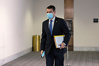 United States Senator Todd Young (Republican of Indiana) departs the Senate GOP Policy Luncheons at the Hart Senate Office Building  in Washington D.C., U.S., on Wednesday, May 20, 2020.  Credit: Stefani Reynolds / CNP/AdMedia
