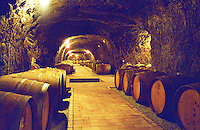 The Chateau Dereszla winery: the underground cellar. A tunnel with barrels of Tokaji wine. Dereszla is owned by Edonia, a French (Bordeaux) négociant (wine trading) company. Major renovations are being done. Credit Per Karlsson BKWine.com