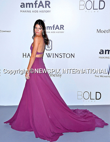 12.05.2015, Antibes; France: KENDALL JENNER<br /> attends the Cinema Against AIDS amfAR gala 2015 held at the Hotel du Cap, Eden Roc in Cap d'Antibes.<br /> MANDATORY PHOTO CREDIT: &copy;Thibault Daliphard/NEWSPIX INTERNATIONAL<br /> <br /> (Failure to credit will incur a surcharge of 100% of reproduction fees)<br /> <br /> **ALL FEES PAYABLE TO: &quot;NEWSPIX  INTERNATIONAL&quot;**<br /> <br /> Newspix International, 31 Chinnery Hill, Bishop's Stortford, ENGLAND CM23 3PS<br /> Tel:+441279 324672<br /> Fax: +441279656877<br /> Mobile:  07775681153<br /> e-mail: info@newspixinternational.co.uk