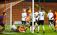 Blackpool's Owen Watkinson pulls a goal back to make it 1-2<br /> <br /> Photographer Alex Dodd/CameraSport<br /> <br /> The FA Youth Cup Third Round - Blackpool U18 v Derby County U18 - Tuesday 4th December 2018 - Bloomfield Road - Blackpool<br />  <br /> World Copyright &copy; 2018 CameraSport. All rights reserved. 43 Linden Ave. Countesthorpe. Leicester. England. LE8 5PG - Tel: +44 (0) 116 277 4147 - admin@camerasport.com - www.camerasport.com