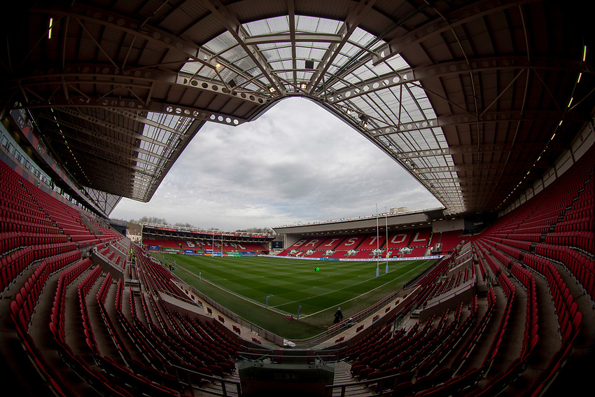 A general view of Ashton Gate, home of Bristol Bears<br /> <br /> Photographer Bob Bradford/CameraSport<br /> <br /> Gallagher Premiership - Bristol Bears v Worcester Warriors - Saturday 23rd March 2019 - Ashton Gate - Bristol<br /> <br /> World Copyright © 2019 CameraSport. All rights reserved. 43 Linden Ave. Countesthorpe. Leicester. England. LE8 5PG - Tel: +44 (0) 116 277 4147 - admin@camerasport.com - www.camerasport.com
