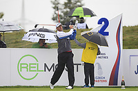 Robert Karlsson (SWE) on the 2nd tee during Round 2 of the D+D Real Czech Masters at the Albatross Golf Resort, Prague, Czech Rep. 01/09/2017<br /> Picture: Golffile | Thos Caffrey<br /> <br /> <br /> All photo usage must carry mandatory copyright credit     (&copy; Golffile | Thos Caffrey)