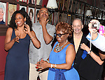 Audra McDonald, David Alan Grier, Irene Gandy & Jeffrey Richards.attending the celebration for Norm Lewis receiving a Caricature on Sardi's Hall of Fame in New York City on 5/30/2012