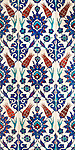 Iznik 01 - Iznik tiles with tulip design, Rustem Pasa Mosque, Eminonu, Istanbul, Turkey