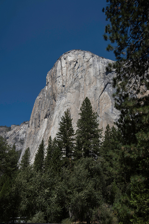 September 2014 / Yosemite National Park landscapes / El Capitan from  El Capitan Bridge / Photo by Bob Laramie