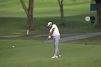 Jyoti Randhawa (IND) in action on the 1st during Round 1 of the Maybank Championship at the Saujana Golf and Country Club in Kuala Lumpur on Thursday 1st February 2018.<br /> Picture:  Thos Caffrey / www.golffile.ie<br /> <br /> All photo usage must carry mandatory copyright credit (&copy; Golffile | Thos Caffrey)