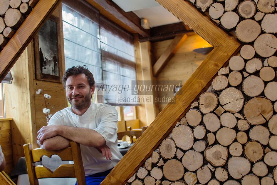 Europe/France/Rhone-Alpes/73/Savoie/<br />  La Perrière l: La Tania: Julien Machet, restaurant: Le Farçon, [Non destiné à un usage publicitaire - Not intended for an advertising use]