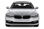 Car photography straight front view of a 2018 BMW 5 Series Plug-In Hybrid 530e Sport 4 Door Sedan