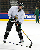 Joe Finley (North Dakota 2) - The 2008 Frozen Four participants practiced on Wednesday, April 9, 2008, at the Pepsi Center in Denver, Colorado.