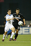 15 May 2004: Kerry Zavagnin (5) and Dema Kovalenko (21) challenge for the ball in the second half. DC United defeated the Kansas City Wizards 1-0 at RFK Stadium in Washington, DC during a regular season Major League Soccer game..