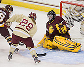 Hannah Bramm (UMD - 18), Kate Leary (BC - 28), Kayla Black (UMD - 1) -  - The visiting University of Minnesota Duluth Bulldogs defeated the Boston College Eagles 3-2 on Thursday, October 25, 2012, at Kelley Rink in Conte Forum in Chestnut Hill, Massachusetts.