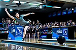 CLAYTON, MO - APRIL 14: Kristin Quah #27 of Vanderbilt University releases the ball during the Division I Women's Bowling Championship held at Tropicana Lanes on April 14, 2018 in Clayton, Missouri. Vanderbilt University defeated McKendree University 4-3. (Photo by Tim Nwachukwu/NCAA Photos via Getty Images)