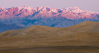 Mesquite Flats sand dunes and Panamint Mountains at sunrise