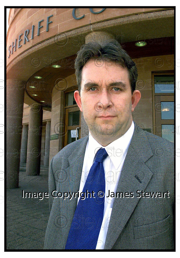 Copyright Pic : James Stewart .Ref :                           .File Name : stewart02-MARTIN MORROW                      .LAWYER MARTIN MORROW OUTSIDE FALKIRK SHERIFF COURT.......(see copy from Jim Davis)......Payments to :-.James Stewart Photo Agency, Stewart House, Stewart Road, Falkirk. FK2 7AS      Vat Reg No. 607 6932 25.Office : 01324 630007        Mobile : 0421 416997.E-mail : JSpics@aol.com.If you require further information then contact Jim Stewart on any of the numbers above.........