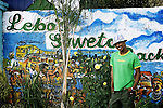 Lebo Malepa, founder and owner of the only backpacker in Meadowlands, Soweto. April 2009
