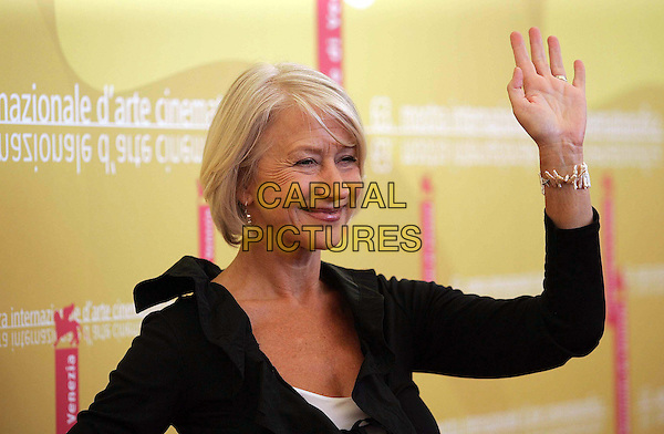"HELEN MIRREN .""The Queen"" photocall on the fourth day of the 63rd Venice International Film Festival, Venice, Italy. .September 2nd, 2006 .Ref: OME/GPA.half length black jacket hand bracelet.www.capitalpictures.com .sales@capitalpictures.com .©Omega/Capital Pictures"