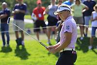Brooke M. Henderson (USA) putts on the 6th green during Thursday's Round 1 of The Evian Championship 2018, held at the Evian Resort Golf Club, Evian-les-Bains, France. 13th September 2018.<br /> Picture: Eoin Clarke | Golffile<br /> <br /> <br /> All photos usage must carry mandatory copyright credit (&copy; Golffile | Eoin Clarke)