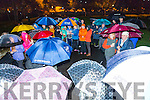 The rain didn't stop people from attending  the  candlelight vigil for  Suicide  in Pearse Park on Thursday