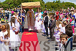 POCESSION: On Sunday the local people of Ballymacelligott held their Corpus Christi procession from St Brendan's Church Cloghers to Cloghers Ballymacelligott Grave....................................... ....