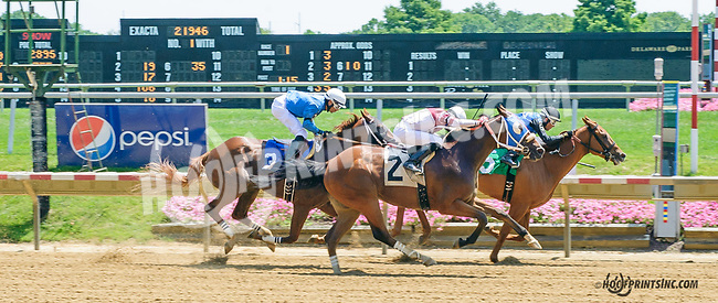 Fond of Candy winning at Delaware Park on 7/20/15 before being Disqualified and place third